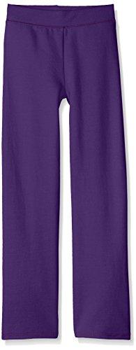 Hanes Girls' Big Girls' Comfortsoft Ecosmart Open Bottom Fleece Sweatpant, Purple Thora, S