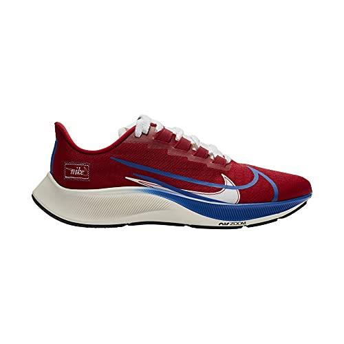 Nike Air Zoom Pegasus 37 Prm, Scarpe da Corsa Uomo, Gym Red/Game Royal-White-Sail-Black, 42.5 EU