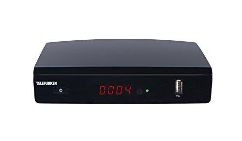 Telefunken TF-9820T2HD DVB-T2 HD Receiver (HEVC, Irdeto-Zugangssystem für freenet TV integriert, HDMI, Mediaplayer, USB 2.0, 12V)