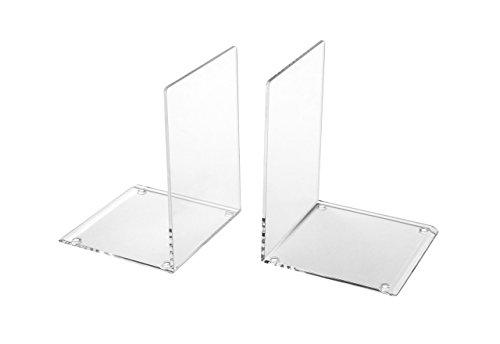 Osco - Sujetalibros de acrílico transparentes