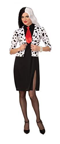 Cruella De vil elegante vestido Disfraz de Emma 's wardrobe – 101 Dálmatas Cruella de Vil Halloween Disfraz tamaños – EU 40