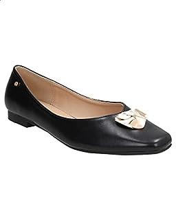 حذاء باليرينا جلد صناعي مزين بحلية للنساء من ديجافو
