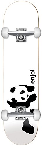 Enjoi Whitey Panda – Skateboard Unisex Adulto, Bianco