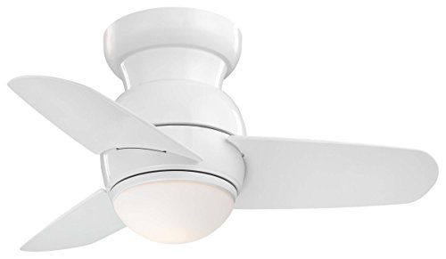 Minka-Aire F510L-WH, Spacesaver 26' LED Ceiling Fan, White Finish