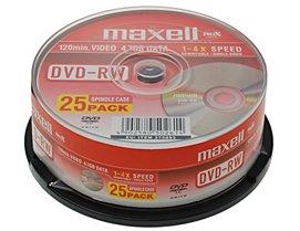 Maxell DVD-RW 4.7Gb 2x Spindle 25 rewritable dvd 25 pack dvd rw blank dvd