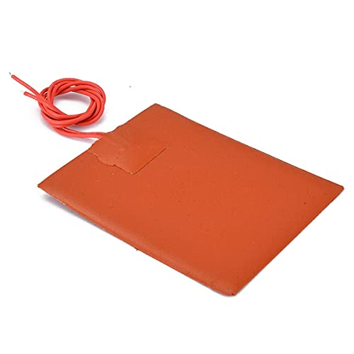 1PC 12V DC/20W Silicone Heater Pad For 3D Printer Heated Bed Heating Mat 80 * 100mm UK