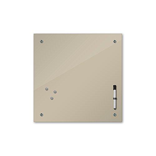 Memoboard 40 x 40 cm, 24 Farben - Silber - Glas - Glasboard - Glastafel - Magnetwand - Pinnwand - Mehrzwecktafel Farbton - Grundfarbe - einfarbige Schreibtafel