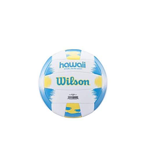 Wilson Beach Volleyball, Outdoor, Freizeitspieler, Offizielle Größe, AVP HAWAII, Blau/Gelb, WTH482657XB