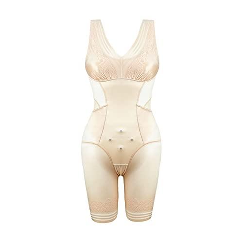 LBBL Lady Slimming Burn Fat Briefs Shapewear, Tummy Slim Body Modelador Cuerpo Completo Ropa Interior Adelgazante Chaleco Bodysuits Jumpsuit Corsé Sin Costuras (Color : B, Size : L)