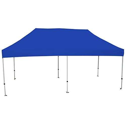 King Canopy TUFF Tent White Frame 10X15 Instant Pop Up Tent w/Blue Cover