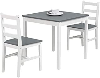 mecor 3 PC Wood Kitchen Dining Table Set, Solid Wood...