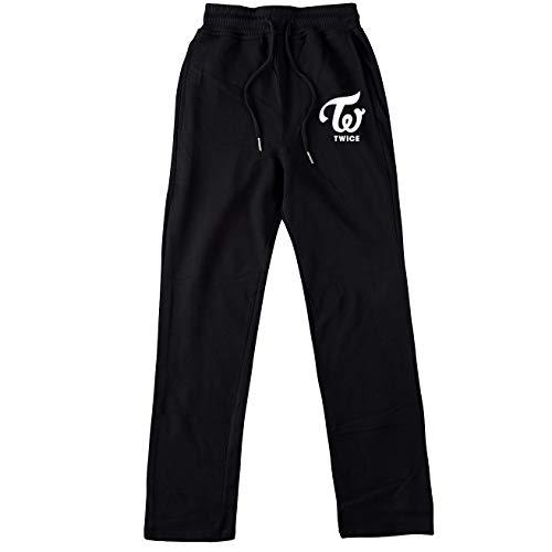 Aopostall KPOP BTS - Pantalones Deportivos para niños, Color Negro y Rosa