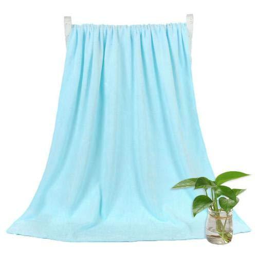 Heliansheng Toalla de baño súper Absorbente de Toalla de baño de Secado rápido de Color sólido de 140 * 70 cm - Azul Claro