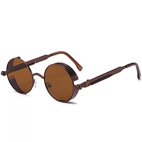 Classic Steampunk Gafas de sol 2021 Hombres y mujeres Marca de lujo Retro Gafas redondas Gafas de metal Gafas de sol de moda UV400 Gafas de sol polarizadas Hombres geniales para mujer deportes