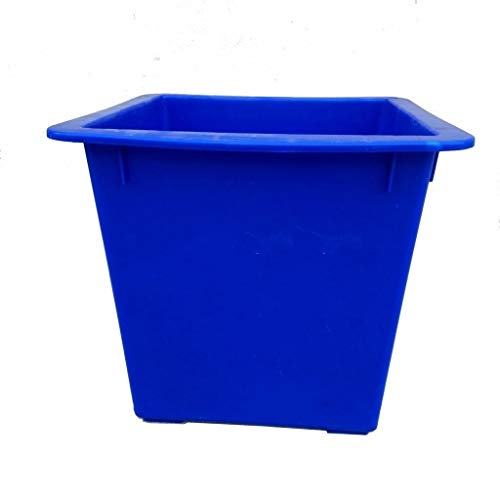 Best Deals! JHEY Blue Outdoor Dustbins Thick Square Uncovered Plastic Fruit Box Bins Trash Can Bins ...