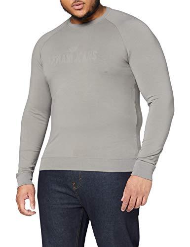 Armani Jeans Herren 3Y6M086J0DZ Sweatshirt, Grau (Grigio 1905), Large
