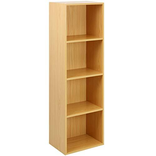 Oypla 4 Tier Holz Regal Buche Bücherregal Regal Storage Display Rack