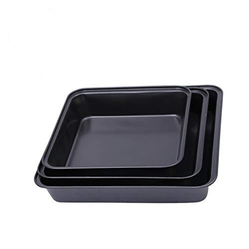 Bakeware set Square Baking Pan Non-stick Carbon Steel Toast Mould Oven Baking Pan Mould Baking Pan Tool cookie sheet (Color : 230g 22X22.5X5CM)