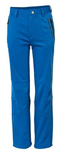 Crivit Jungen Softshellhose Outdoorhose Wanderhose Trekkinghose Kinder Schneehose (158/164, blau/schwarz)