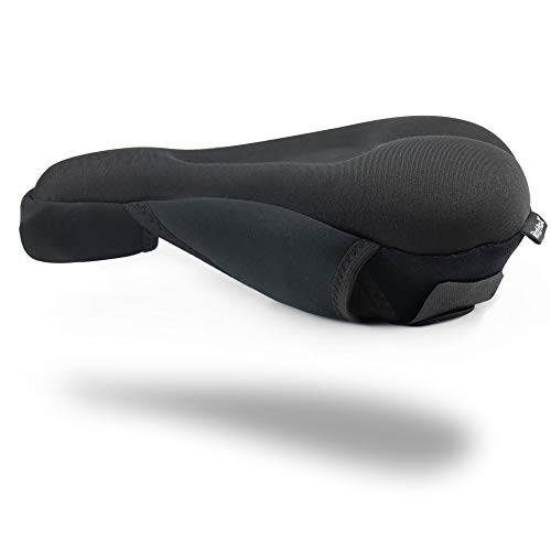 RockProX Bike Seat Cushion Cover for Men/Women Comfort Bicycle Seat Gel Cover for Peloton/Stationary/Mountain Bike Accessories