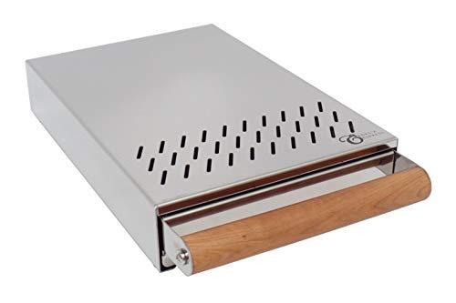 Sudschublade Abklopfbehälter Abschlagkasten Knockbox für Espressomaschinen Kaffeesatz - Holzgriff - 200 x 300 x 55 mm