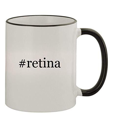 #retina - 11oz Colored Handle and Rim Coffee Mug, Black