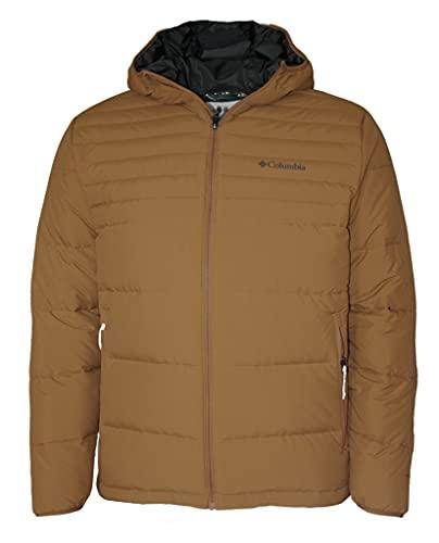 Columbia Alpine Tunnel 650 TurboDown Hooded Men's Jacket Omni Heat (Camel Brown, xx_l)