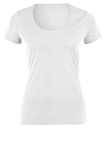 Wolford Damen 59781 T-Shirt Rundhals.1001 White,Medium (M)
