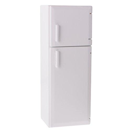 1:12 Puppenhaus Küchenmöbel Miniatur Holz Weiße Kühlschrank Puppenstubenmöbel - 5 x 4,7 x 15 cm