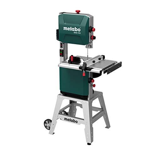 Metabo 619009000 619009000-Sierra de cinta BAS 318 Precision WNB-monofásica, 900 W, Verde