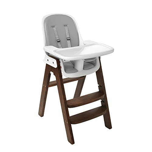OXO Tot Sprout Chair with Tray Cover, Gray/Walnut