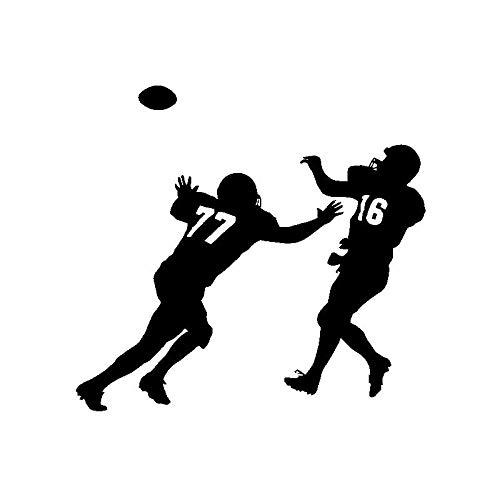 HUIHUI 16CM * 15CM Lustiger Aufkleber Vinyl Autoaufkleber American Football Players Spiel C3-1670-Schwarz