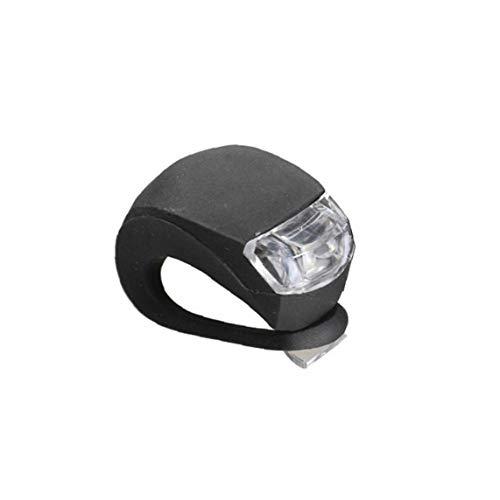 1 Resistente trasera de la linterna de la lámpara de seguridad de la bici de la bicicleta LED Light Pack parte posterior del frente de agua de silicona con una función de la batería Negro
