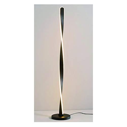 Lámpara de pie Lámpara de pie remoto moderna para la lámpara de la sala de estar Decoración de la habitación de aluminio Acrílico de acrílico Forma de la espiral LED de pie interior Iluminación para l