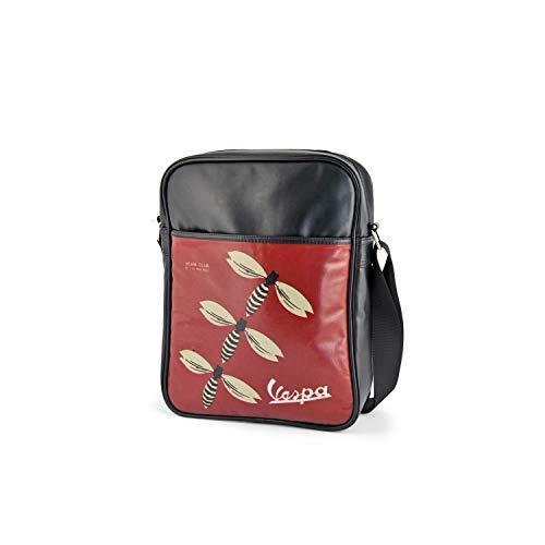 VESPA Retro Tasche Flightbag VESPA CLUB Schwarz Hochformat