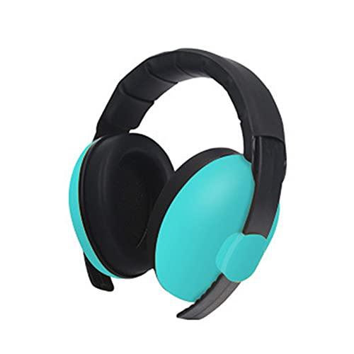 Protección auditiva Earmuffs Protectores Auditivos de Seguridad Anti-Ruido 25dB SNR Compacto y Plegable Protectores Auditivos Ruido ProteccióN Auditiva Laboral para Caza Disparo Estudiar, Mint Green