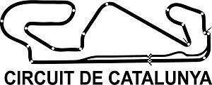 Online Design Espagne Catalunya Autocollant Moto GP Course Circuit Piste Voiture - Noir
