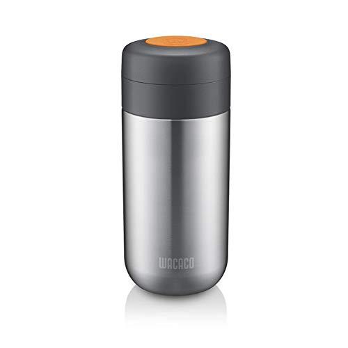 WACACO Nanovessel, 3-in-1-Vakuum-Isolierflasche, Kompatibel mit Nanopresso -304 Edelstahl- Tumbler, Tee-Infuser und Wassertank, Reise-Kaffee-Flasche, Camping-Espresso-Zubehör, 7 Unzen Kapazität