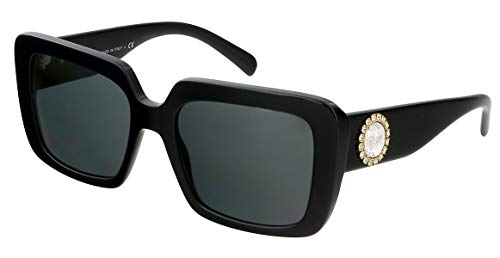 Versace 0VE4384B Sonnenbrille, Black/Grey, 54/19/140
