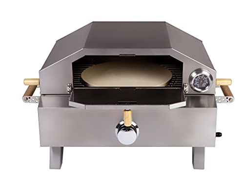 Tisch Gas Pizzaofen Grill Bologna 3,5 kW max Temperatur 400 Grad Piezozündung
