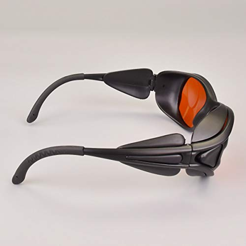 OD 6+ 190nm-550nm / 800nm-1100nm Wavelength Professional Laser Safety Glasses for 405nm, 450nm, 532nm, 808nm,980nm,1064nm, 1080nm, 1100nm Laser Light (Frame Style 2)