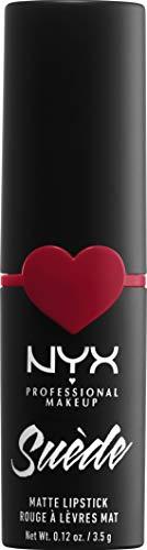 NYX Professional Makeup NYX Professional Makeup Barra de Labios Mate de Larga duración y Cobertura Total Suede Matte Lipstick Tono 9 Spicy Color Naranja, Mujer, Talla única