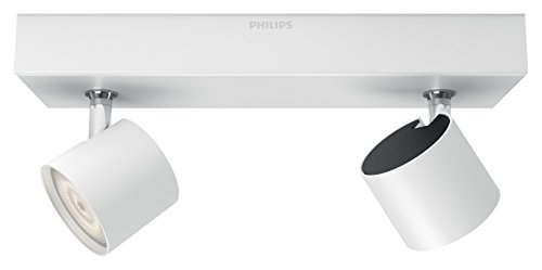 Philips Lighting Star Lampada Faretti LED Integrato Orientabili Luce Dimmerabile, Alluminio, 2 x 4.5 W