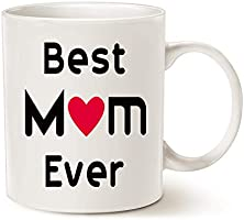 Mothers Day Best Mum Coffee Mug from Daughter Son, Best Mum Ever Unique Christmas or Birthday Gifts Idea for Mum Mother...