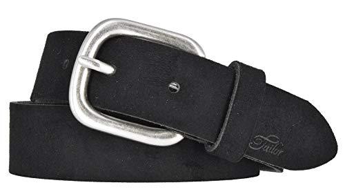 TOM TAILOR Damen Gürtel Damengürtel Leder Gürtel Ledergürtel 30mm schwarz, Länge:95