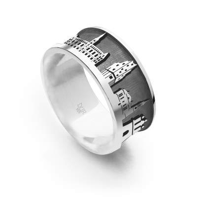 "DUR Unisex Ring\""Hamburg II sandlos\"" aus 925er Silber Größe 56 (17.8) R5414.56, 56 (17.8)"