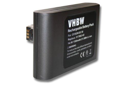 vhbw Li-Ion Akku 1500mAh (14.4V) passend für Saugroboter Home Cleaner Heimroboter Dyson DC30