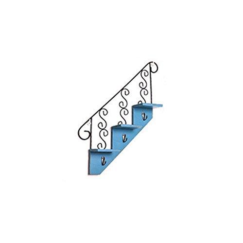 Lingyun Étagère- Support de tableau artificiel ➫ Décoration de salon ❀ Support de pot de fleurs ❁ Décoration murale ❀ Tablette de tableau artificiel multifonctionnel ❁ Support à fleurs ❀ Présentoir ( Couleur : Bleu )