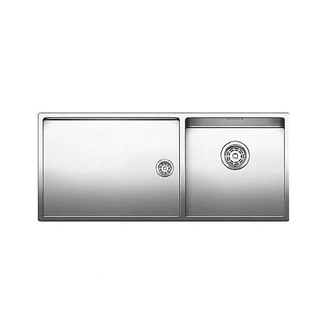Blanco 1517235 Claron 400/550-T-U - Fregadero de 1 seno con escurridor a la izquierda (acero inoxidable)