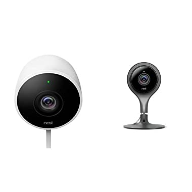 Nest 2 Outdoor and 1 Indoor Camera Bundle, Works with Alexa